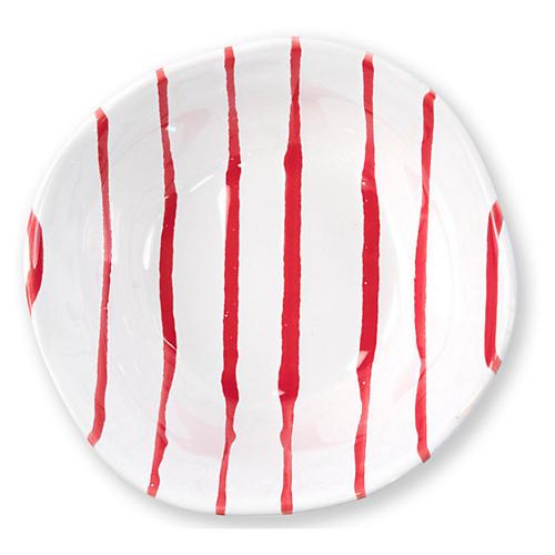 Stripe Berry Bowl, Red