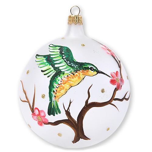Hummingbird Ornament, Green