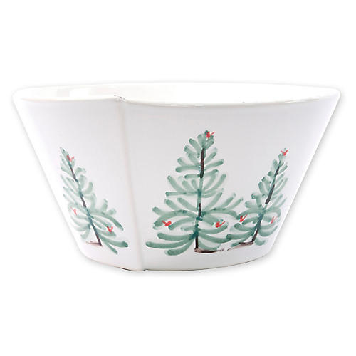 Lastra Holiday Stacking Serving Bowl, White
