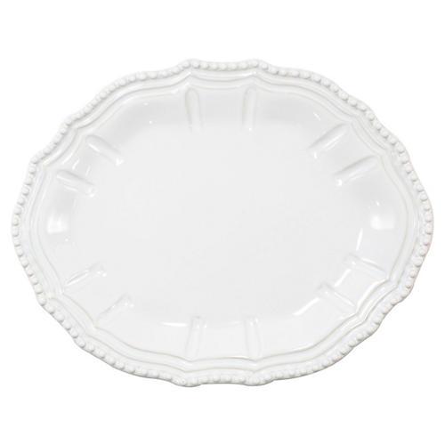 Incanto Stone Baroque Platter, White