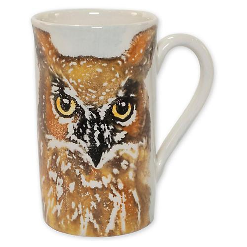 Into the Woods Owl Mug, White