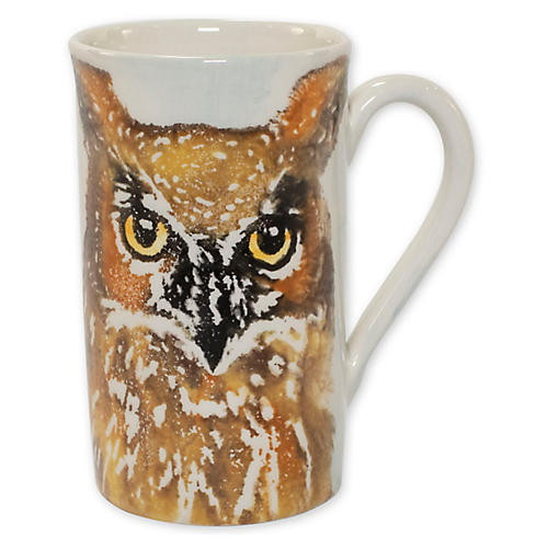 Into the Woods Owl Mug, White