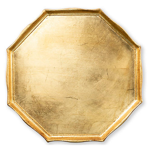 Florentine Octagonal Tray, Gold