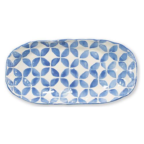 Modello Oval Platter, Blue