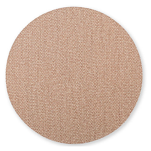 Reversible Round Place Mat, Gray/Brown
