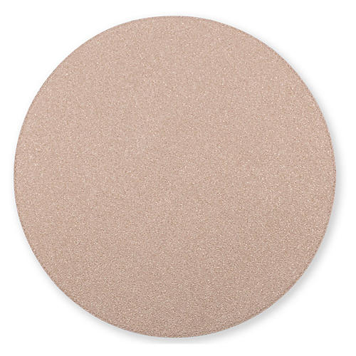 Reversible Round Place Mat, Rose Gold/Sand