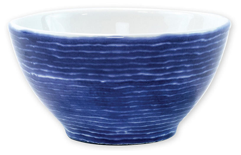 Santorini Stripe Cereal Bowl, Blue/White