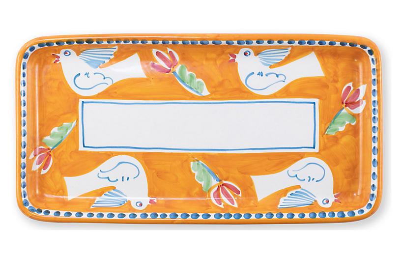 Uccello Rectangular Platter, White