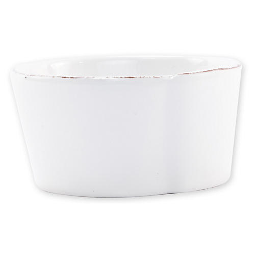 Lastra Fish Melamine Condiment Bowl, White