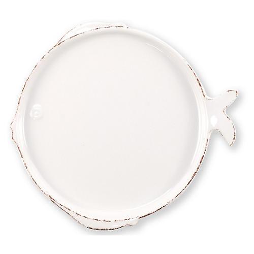 Lastra Fish Melamine Salad Plate, White