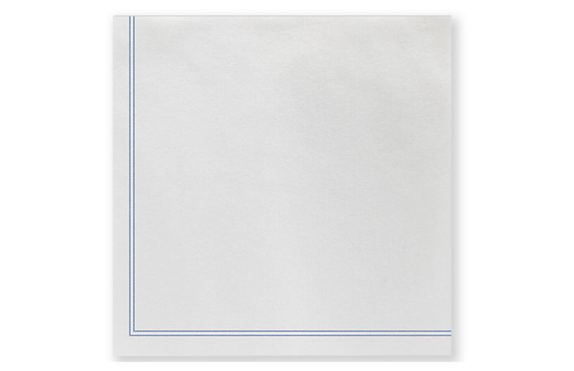 S/20 Papersoft Linea Cocktail Napkins, Blue