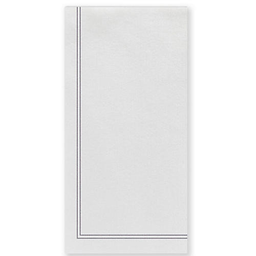 S/50 Papersoft Linea Guest Towels, Light Gray