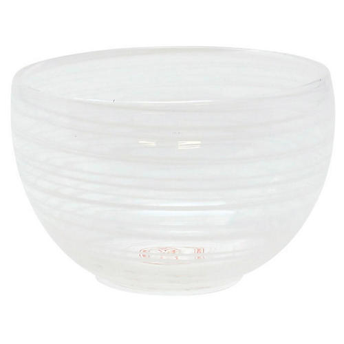 Swirl Small Bowl, White