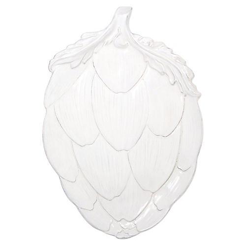 Artichoke Platter, White