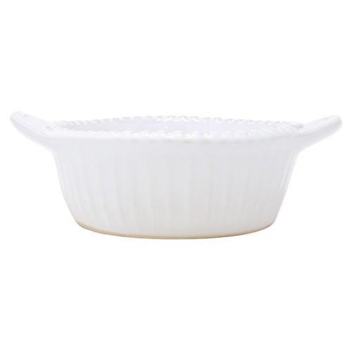 Incanto Stone Stripe Small Baker, White