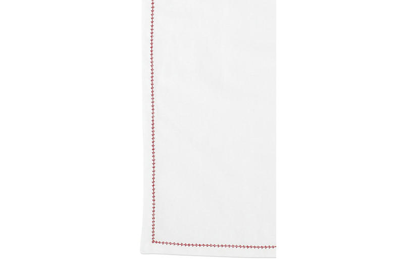 S/4 Cotone Napkins, Ivory/Red