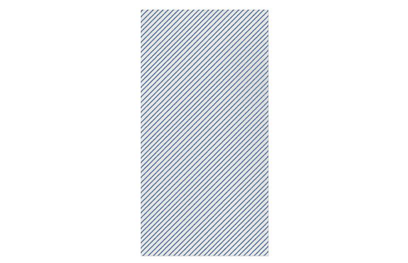 S/20 Papersoft Seersucker Guest Towels, Blue