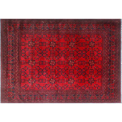 "6'7""x9'5"" Khal Mohammadi Maheen Rug, Red/Blue"