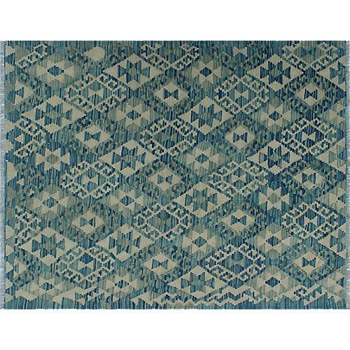"3'8""x4'9"" Marian Kilim, Ivory/Blue"