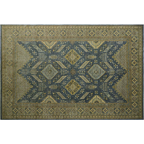 "12'x17'8"" Madalyn Rug, Gray/Gold"