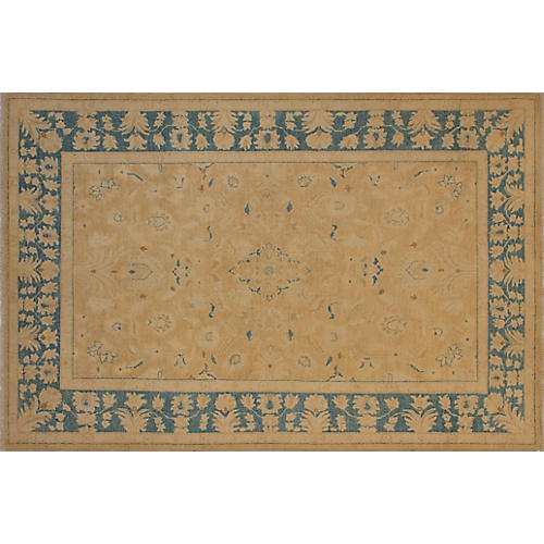 9'x6' Ingrid Faded Rug, Rust/Blue