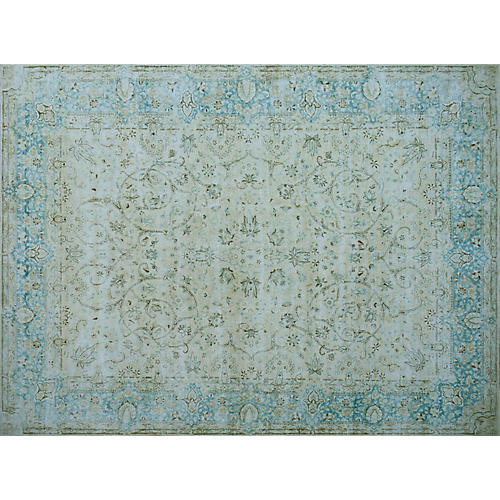 "13'7""x9'7"" Dream Rug, Beige/Sky"