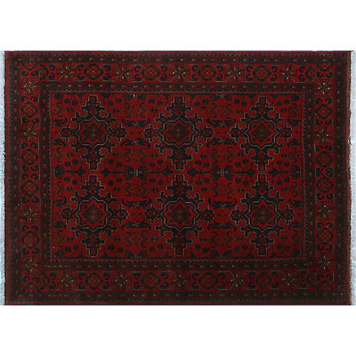 "5'x6'6"" Odessa Rug, Red"