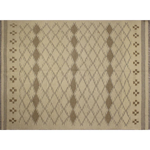 """4'10""""x6'5"""" Winchester Ader Rug, Ivory/Gray"""