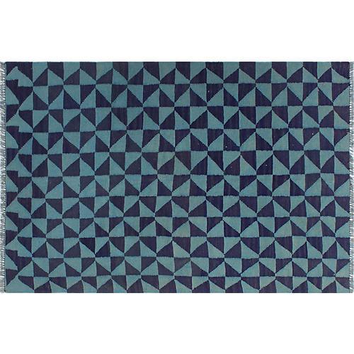 "3'5""x5' Elan Rug, Blue/Light Blue"