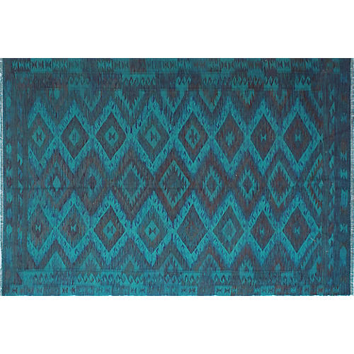 "6'7""x9'6"" Elan Penta Rug, Blue/Purple"