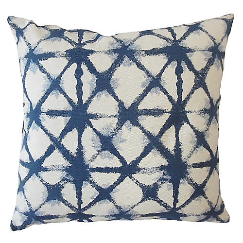 Leila Pillow, Blue/White