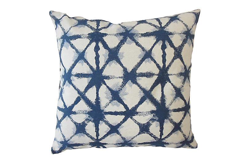 Leila Pillow, Blue/White