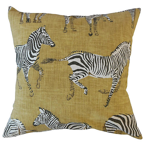 Akia Pillow, Gold/Multi