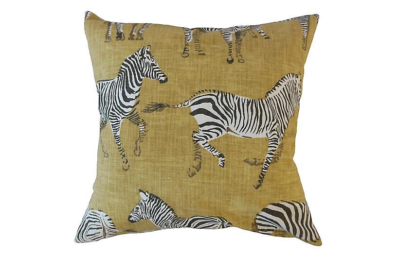 Akia Pillow, Gold/Multi