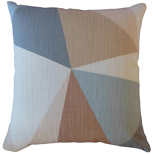 Orla 18x18 Pillow, Sand/Multi