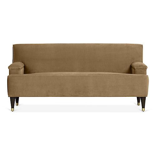 Davis Sofa, Mink Velvet