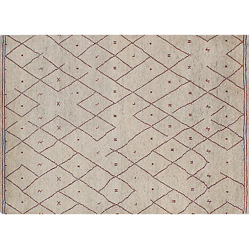 "5'6""x7'7"" Arlequin Rug, Cream/Light Gray"