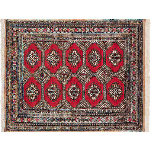 "4'3""x5'6"" Bokhara Rug, Red/Multi"