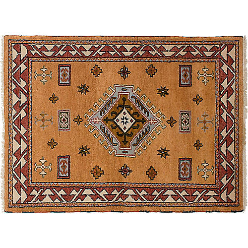 "4'1""x5'10"" Royal Kazak Rug, Tan"