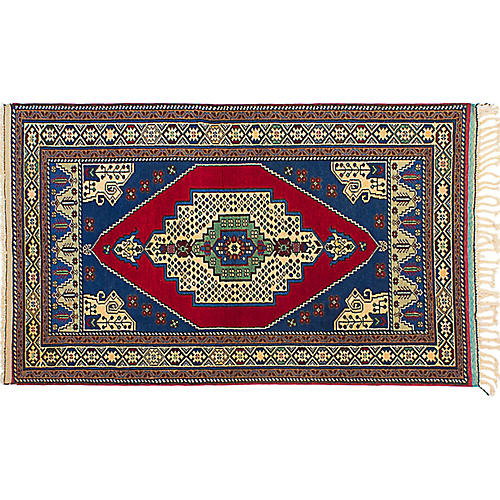 "3'2""x5'1"" Anatolian Rug, Red"