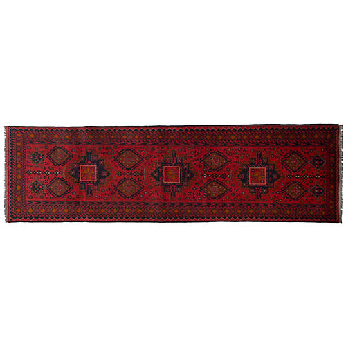 "2'7""x9'8"" Khal Mohammadi Runner, Red/Multi"