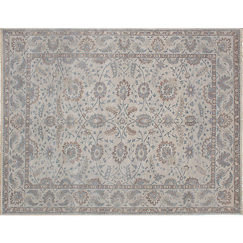 "9'1""x11'8"" Finest Oushak Rug, Light Gray"
