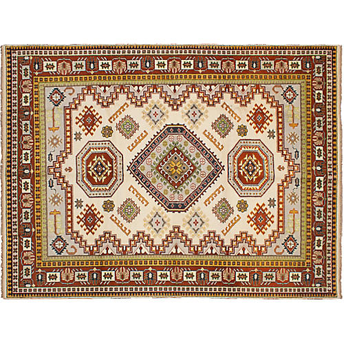 9'x12' Royal Kazak Rug, Cream