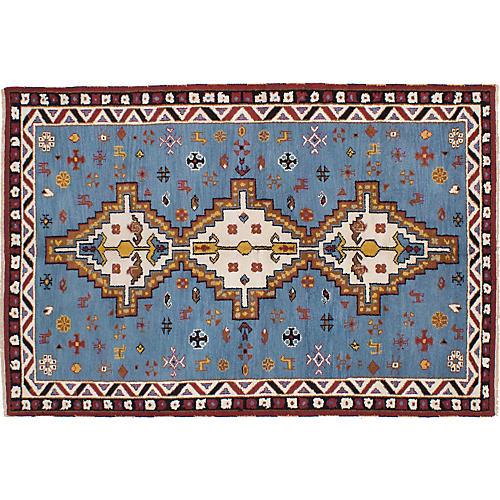 """5'10""""x8'10"""" Royal Kazak Hand-Knotted Rug, Denim"""