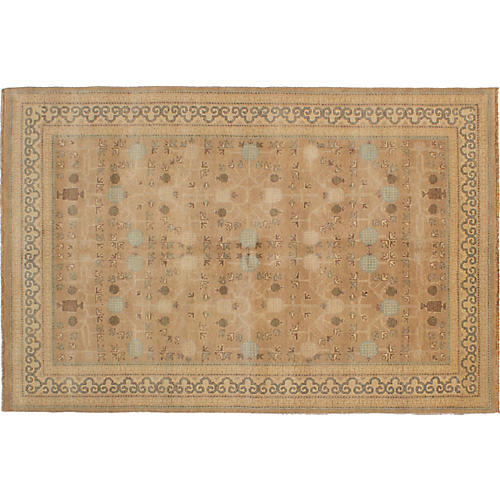 """5'6""""x8'4"""" Elysee Hand-Knotted Rug, Tan"""