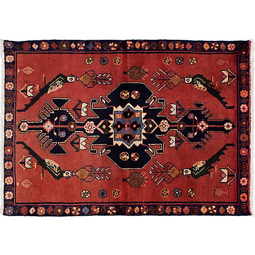 "3'5""x4'8"" Zoey Rug, Brown"