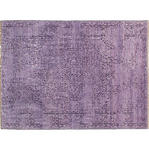 "7'5""x10'2"" Jules Oushak Rug, Light Violet"