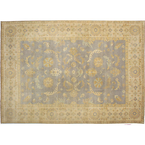 "10'x13'11"" Elysee Finest Oushak Rug, Light Violet"