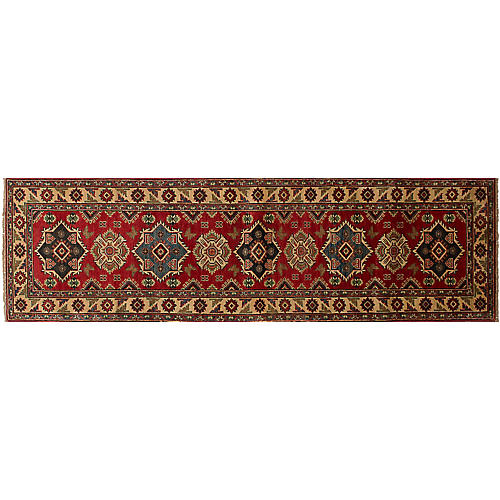 "2'6""x9'6"" Finest Gazni Rug, Red"