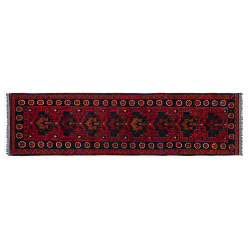 "2'7""x9'5"" Easton Rug, Red"